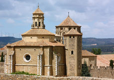de玛丽亚修道院poblet圣诞老人西班牙 免版税库存图片