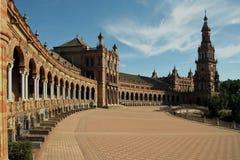 de西班牙广场塞维利亚西班牙 库存照片