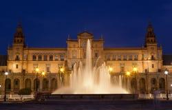 de西班牙广场塞维利亚 库存照片