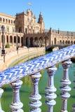 de西班牙护城河广场塞维利亚西班牙 免版税库存图片