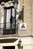 de马德里广场ramales签署典型 免版税库存图片