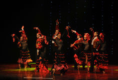 De Áustria cavaleiro-espanhola do flamenco- da tourada dança do mundo Imagem de Stock Royalty Free