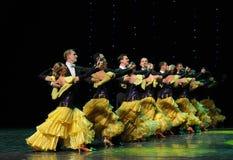 De Áustria francesa da cancã- da fila- dança do mundo Fotografia de Stock Royalty Free
