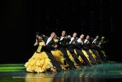De Áustria francesa da cancã- da fila- dança do mundo Foto de Stock