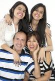 De är en lycklig familj Royaltyfri Fotografi