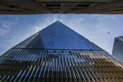 De één bouw van het wereldhandelscentrum Stock Foto's