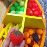  « «de ðŸ de jouet de fraise de  en plastique de ðŸ de 🠫 Photo stock