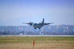 ¡ De Ð - aéroport de approche SPARTIATE de 27J Sofia Photographie stock libre de droits