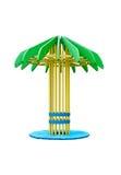 ¡ De Ð anopy sob a forma das palmeiras Imagens de Stock
