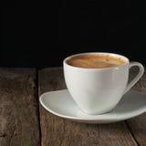  de Ñ para arriba del café con densamente del crema Imagen de archivo libre de regalías