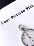 De última hora para una pensión Imágenes de archivo libres de regalías