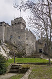 De Λα Fratta ή πύργος Cesta, Άγιος Μαρίνος Στοκ φωτογραφία με δικαίωμα ελεύθερης χρήσης