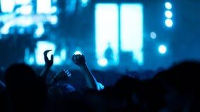 De-στραμμένο πλήθος συναυλίας Στοκ φωτογραφία με δικαίωμα ελεύθερης χρήσης