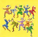 De 12 Dagen van Kerstmis - Tien Lords het Springen Royalty-vrije Stock Foto