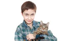 De 13 jaar tiener houdt a   Stock Afbeeldingen