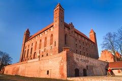 de 14de eeuw Teutonic kasteel in Gniew Stock Afbeeldingen