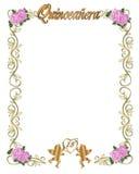 de 15de Uitnodiging van Quinceanera van de Verjaardag Royalty-vrije Stock Foto