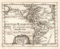 De 1765 Val Map del norte y de Suramérica Imagenes de archivo
