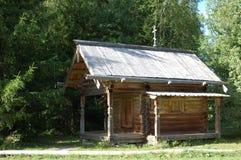 de 17de eeuw houten kapel Stock Foto