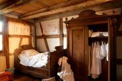 de 19de eeuwslaapkamer Royalty-vrije Stock Foto
