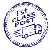 de 1st Post RubberZegel van de Klasse Royalty-vrije Stock Afbeeldingen