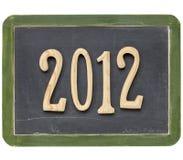 An de 2012 sur le tableau noir Images stock
