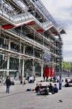 中心de巴黎篷皮杜 库存照片
