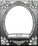 de 25ste Grens van het Frame van de Verjaardag Royalty-vrije Stock Foto's