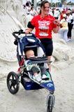 de 25ste Lange Marathon 2009 van het Strand Stock Foto