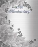 de 25Th uitnodiging van de Verjaardag van het Huwelijk Royalty-vrije Stock Foto's
