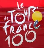 Γύρος de Γαλλία 100 λογότυπο Στοκ εικόνα με δικαίωμα ελεύθερης χρήσης