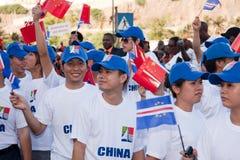 De 35ste verjaardag van Onafhankelijkheid van Kaapverdië Stock Foto's