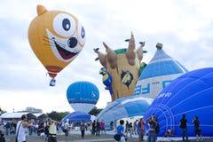 de 3de Internationale Fiesta van de Ballon van de Hete Lucht Putrajaya Royalty-vrije Stock Afbeeldingen