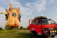 de 3de Internationale Fiesta van de Ballon van de Hete Lucht Putrajaya Stock Afbeelding