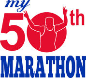 de 50ste marathon stelt agentrace in werking Stock Afbeeldingen