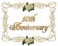 de 50ste Uitnodiging van de Verjaardag Royalty-vrije Stock Foto's