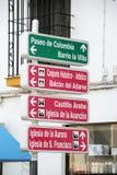 吸引力路标,普列戈de科多巴 免版税库存照片