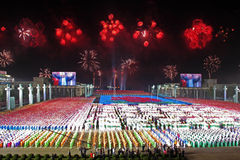 De 65ste verjaardag van arbeidspartij de Noord- van Korea Stock Foto's