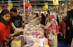 De 8ste internationale Boekenbeurs Van karachi van bezoekers Royalty-vrije Stock Foto