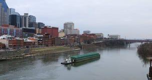 De aak gaat Nashville, Tennessee 4K van de binnenstad over stock video