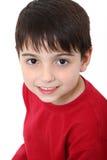 De aanbiddelijke Jongen van Zes Éénjarigen Stock Foto