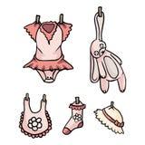 De aanbiddelijke Nieuwe Reeks van de de Illustratieinzameling van het Babymeisje stock illustratie