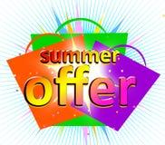 De aanbieding van de zomer Stock Afbeelding