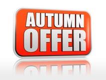 De aanbiedingsbanner van de herfst Royalty-vrije Stock Foto