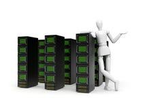 De aanbiedingsdiensten van servers, gegevensopslag, enz. Stock Foto's