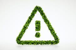 De aandachtssymbool van het ecologieblad Stock Afbeeldingen