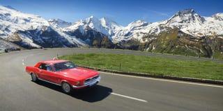 De Aandrijving van Alpen Stock Fotografie