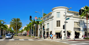 De Aandrijving van de rodeo, Beverly Hills, Verenigde Staten stock foto