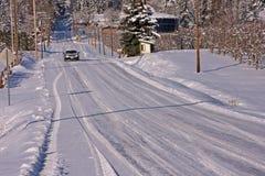 De Aandrijving van de winter Royalty-vrije Stock Afbeeldingen