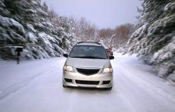 De Aandrijving van de winter Stock Afbeeldingen
